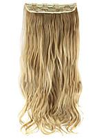 la longitud del pelo sintético de oro de 60 cm de alto Hemperature la extensión del pelo de la peluca de alambre