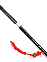Double Cupronickel Black Paint Two Bitter Bamboo Flute