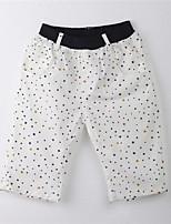 Girl's Polka Dot Pants,Cotton Summer White