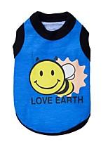 Katzen / Hunde T-shirt / Kleidung / Kleidung Blau / Rose Frühling/Herbst Blumen / Pflanzen Modisch-Pething®