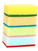 10pcs Random Color Cleaning Sponge Cloth