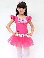 Ballet Dresses Children's Performance Cotton Bow(s) 1 Piece Fuchsia / Light Blue / Light Purple / Pink Ballet Lace-up Sleeveless Natural