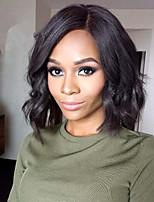 7A Quality Peruvian Virgin Hair Lace Front Wigs Bleached Knots Short Bob Glueless Hair Wigs For Black Women's