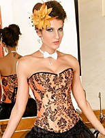 YUIYE® Women Sexy Lingerie Waist Training Corset Bustier Shapewear Plus Size  Orange S-2XL Overbust Corset Cincher
