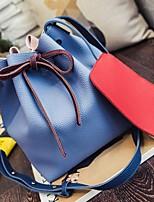 Women-Casual-PU-Shoulder Bag-Blue / Gray / Black / Khaki
