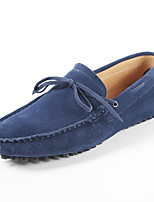 Men's Shoes Wedding / Office & Career / Party & Evening / Athletic / Casual Suede Loafers Blue / Yellow / Gray