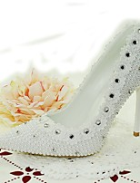 Women's Shoes Glitter / Customized Materials Stiletto Heel Heels Heels Wedding / Party & Evening / Dress White