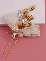 סיכת שיער כיסוי ראש נשים חתונה / אירוע מיוחד קריסטל / סגסוגת / דמוי פנינה / בד חתונה / אירוע מיוחד חלק 1