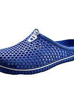 Masculino-Sandálias-Conforto-Rasteiro-Preto / Azul / Vermelho / Branco / Azul Real-Silicone-Ar-Livre / Casual