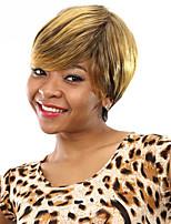 résistant à la chaleur courtes perruques synthétiques bon marché fausse perruque de cheveux droites pour les femmes