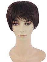 40% perruque de cheveux humains cheveux courts cheveux raides perruque femme d'âge moyen tempérament chaud