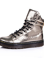 Women's Fall / Winter Fashion Boots PU Outdoor / Casual Platform Gore Black / White / Gold