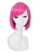 Fashionable Rose Color Short Length Straight Cosplay Synthetic Wigs