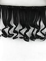 de onda natural de las pelucas negras del cordón del pelo humano europa 4010