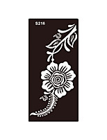 1pc Fake Glitter Henna Mehndi Airbrush Stencil Tattoo Women Body Art Flower Temporary Tattoo Sticker S216