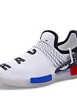 Jungen-Sneaker-Sportlich-Tüll-Flacher Absatz-Komfort / Rundeschuh-Schwarz / Weiß