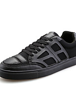 Men's Shoes Casual Canvas Fashion Sneakers Black / Black and White / White