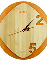 Round Modern/Contemporary Wall Clock,Family Wood 11.8
