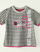 Boy's Polyester Tee,Summer Striped