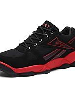 Zapatos Running Tul Negro / Rojo Hombre