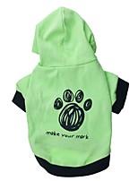 Gatti / Cani Felpe con cappuccio / T-shirt Verde / Blu Primavera/Autunno Floral / botanico Di tendenza, Dog Clothes / Dog Clothing-