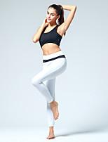 Pantalones de yoga Medias Transpirable / Capilaridad Cintura Media Eslático Ropa deportiva Blanco / Negro / Melocotón Mujer OtrosYoga /