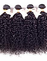 brasileño rizado del pelo virgen 4 haces 7a sin procesar virginal del pelo rizado rizado mechones de cabello humano armadura brasileña del