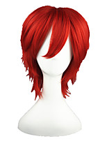 Katekyo Hitman Reborn-Kozato Enma Red 14inch Anime Cosplay Wig CS-011B