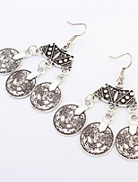 Antique Silver Bohemia Flower Retro Vintage Earrings For Women Lady 2016 New Jewelry