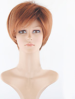 Light Brown Synthetic Wig for Women Cheap Wigs Short Curly Synthetic Hair Short Natural Women's Wigs