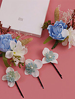 Women's Alloy / Fabric Headpiece-Wedding / Special Occasion / Outdoor Flowers / Hair Clip 5 Pieces