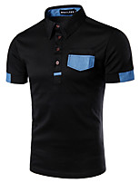 Men's Sports Going out Casual/Daily Work Simple Active Summer PoloColor Block Shirt Collar Short Sleeves Cotton Acrylic Medium 916746