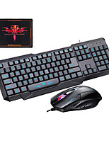 Universal Use USB Wired Gaming Keyboard Mouse and Pad for PC Laptop 3 Pieces a Set