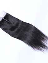 12Inch Braizlian Straight Closure Best Virgin Brazilian Lace Closure Bleached Knots closures Free/Middle/3Part Closure