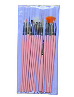 1set Include 15 Pieces Nail Art Pink Stick Draw Image Pen Nail Makeup Manicure Tools NAO24