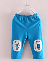 New Baby Girls Kids Skinny Pants Cute Cat Print Stretchy Summer Leggings