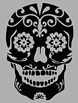 Fashion Skull Wall Mural Shapes / Abstract Embellishments Fantasy / 3D Wall Stickers Plane Wall Stickers,vinyl 58*83cm