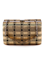 L.WEST Women's The Large Capacity Grid  Evening Bag