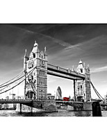 JAMMORY 3D Wallpaper Retro Wall Covering,Canvas Stereoscopic Large Mural  Black and White Bridge