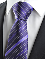 KissTies Men's Purple Striped Tie Necktie For Wedding Formal Business Work Casual With Gift Box