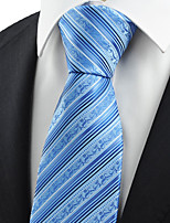 KissTies Men's Flora Pattern Striped Microfiber Tie Necktie Formal Wedding Holiday With Gift Box (3 Colors Available)