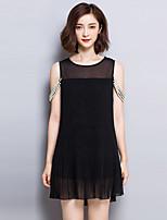 2016 Summer New Women's Fashion Loose Fashion Plus Size Chiffon Dress