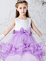 Girl's Blue / Purple / Red Dress,Patchwork Polyester Summer