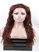 Eva wigs 100% brazilian human virgin hair  lace front wig heavy density water wave lace wigs for fashion women