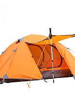 Tenda-Impermeabile / Traspirabilità / Anti-pioggia / Anti-polvere / Anti-vento / Ben ventilato / Tenere al caldo-1 persona-Blu / Arancione
