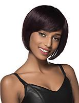 peluca corta recta adorable cabello humano sin tapa bob