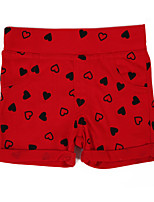 Girl's Print Shorts,Cotton Summer Black / Blue / Pink / Red