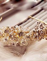 Femme Cristal / Laiton / Alliage / Imitation de perle Casque-Mariage / Occasion spéciale / Extérieur Serre-tête 1 Pièce