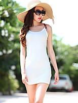 VERRAGEE® Women's Round Neck Sleeveless Above Knee Dress-Q315