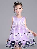 Girl's Casual/Daily Floral Dress,Polyester All Seasons Pink / Purple